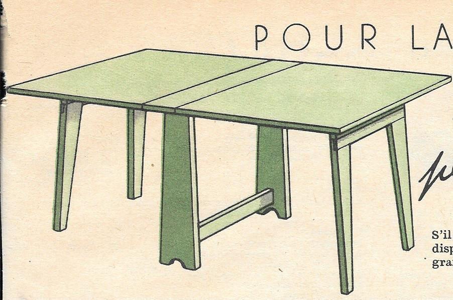 fabriquer une table pliante pas cher Table pliante vintage en bois à faire ...
