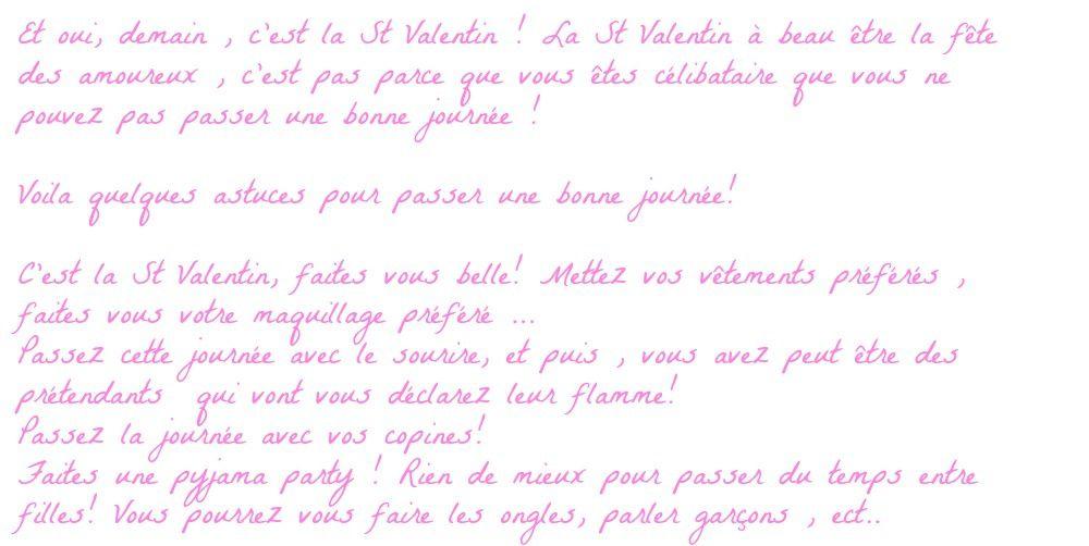 St Valentin [ Célibataire ] Comment passer une bonne journée