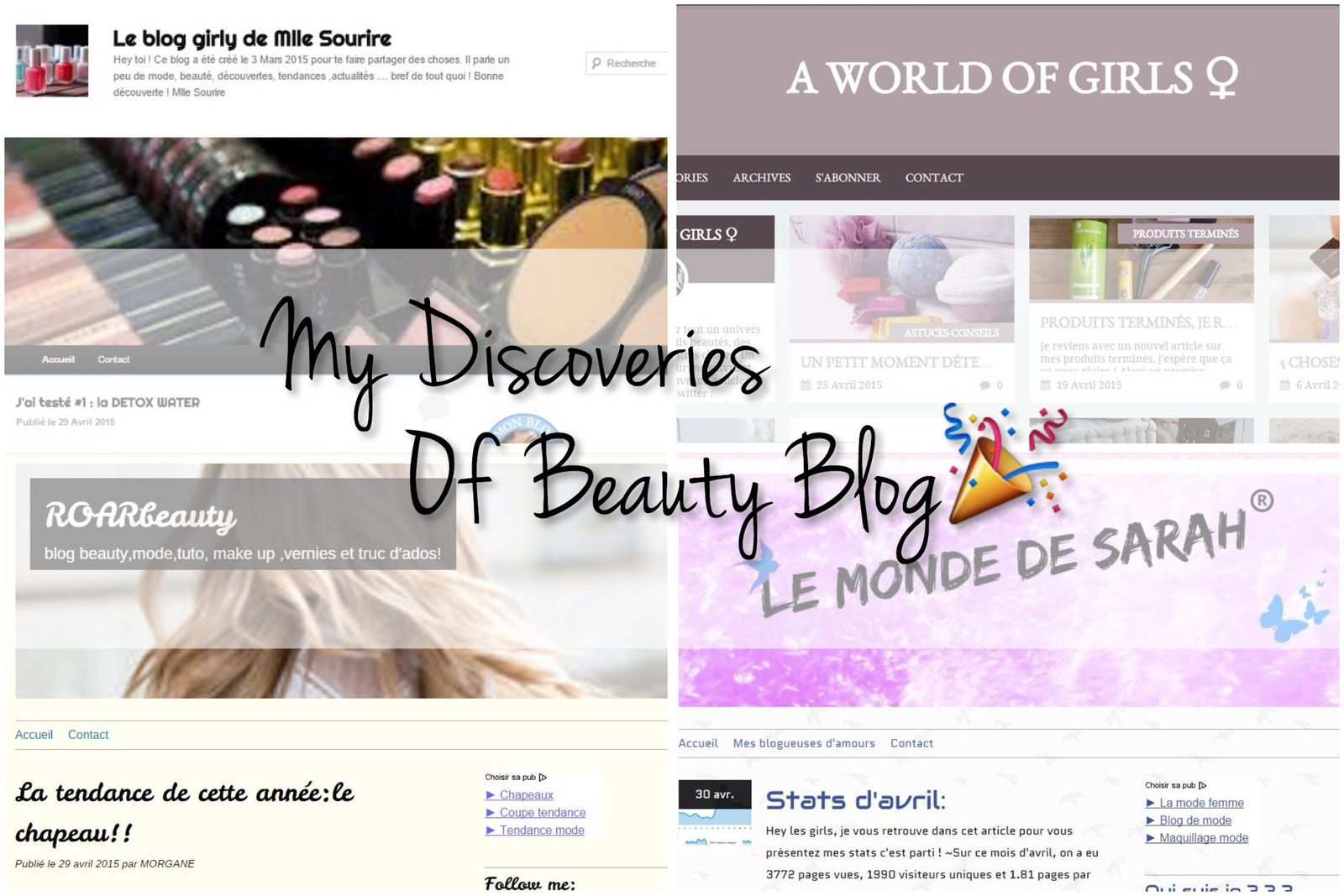 My Discoveries Of Beauty Blog #1