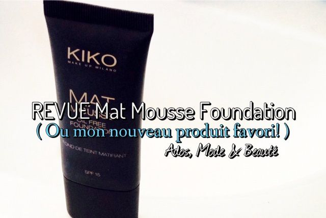 Mat Mousse Foundation by Kiko !