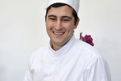 Avec sa recette « jardin d'enfance », Samuel Victori remporte le 1er prix du trophée :