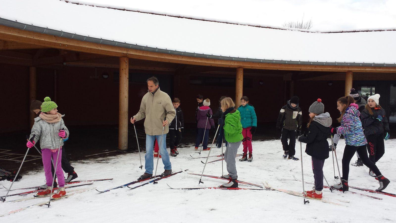 Ski de fond dans la cour