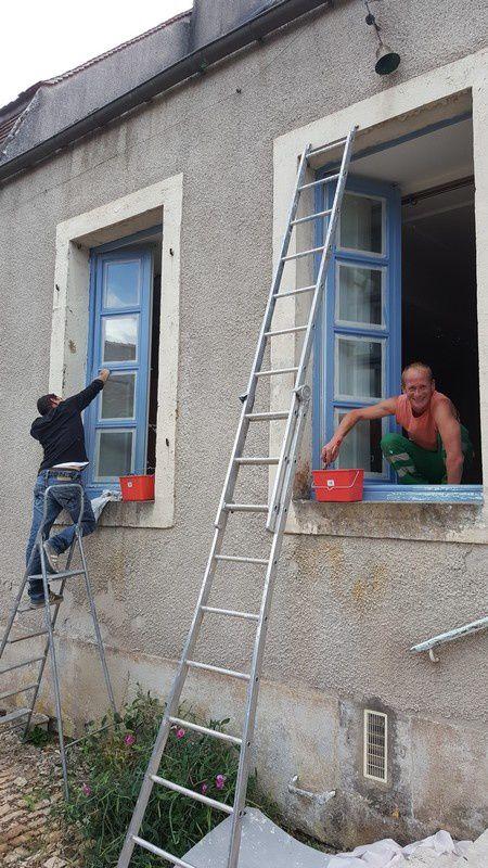 Chantier de rénovation peinture