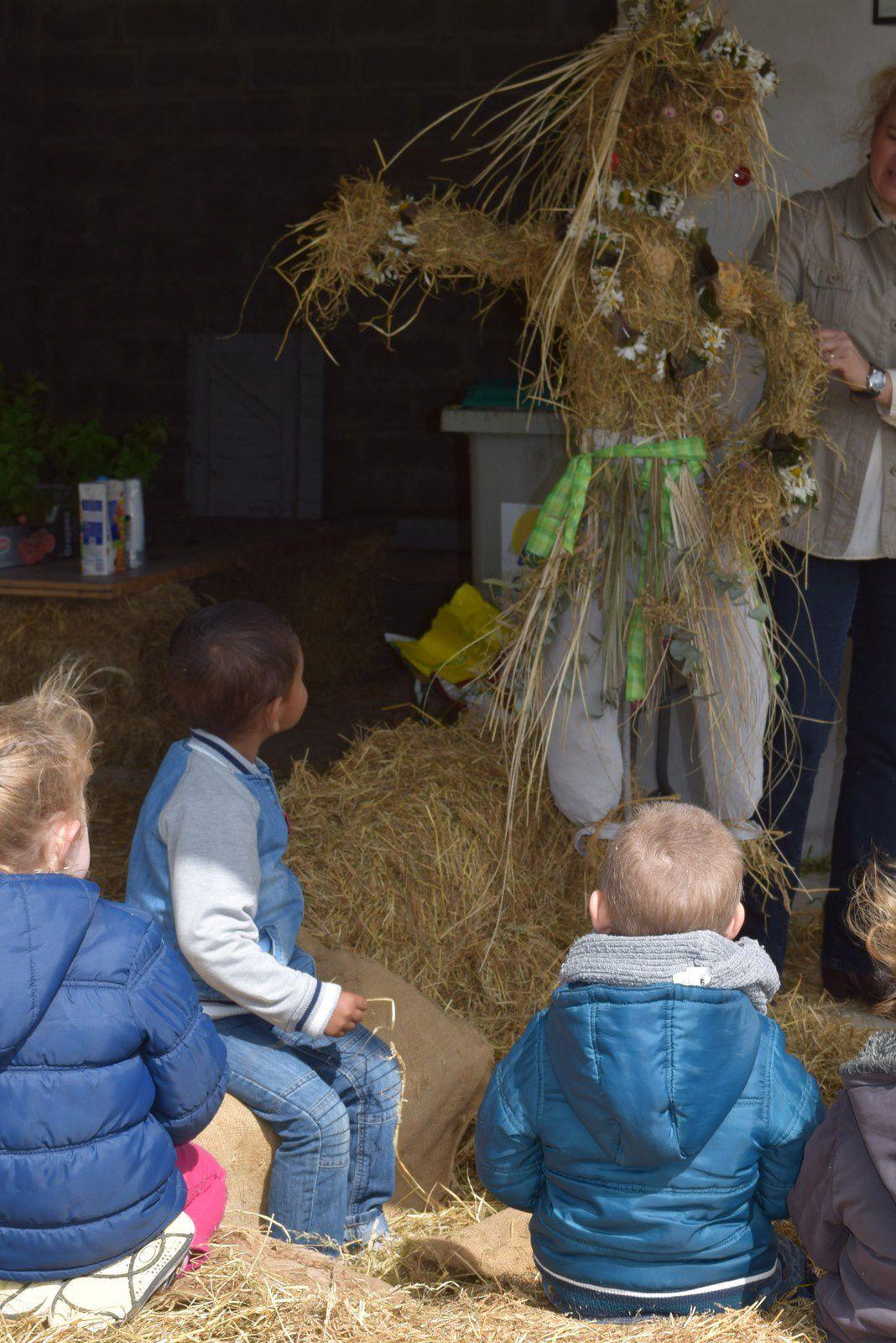 atelier dans le jardin avec des écoles...centre aéré...