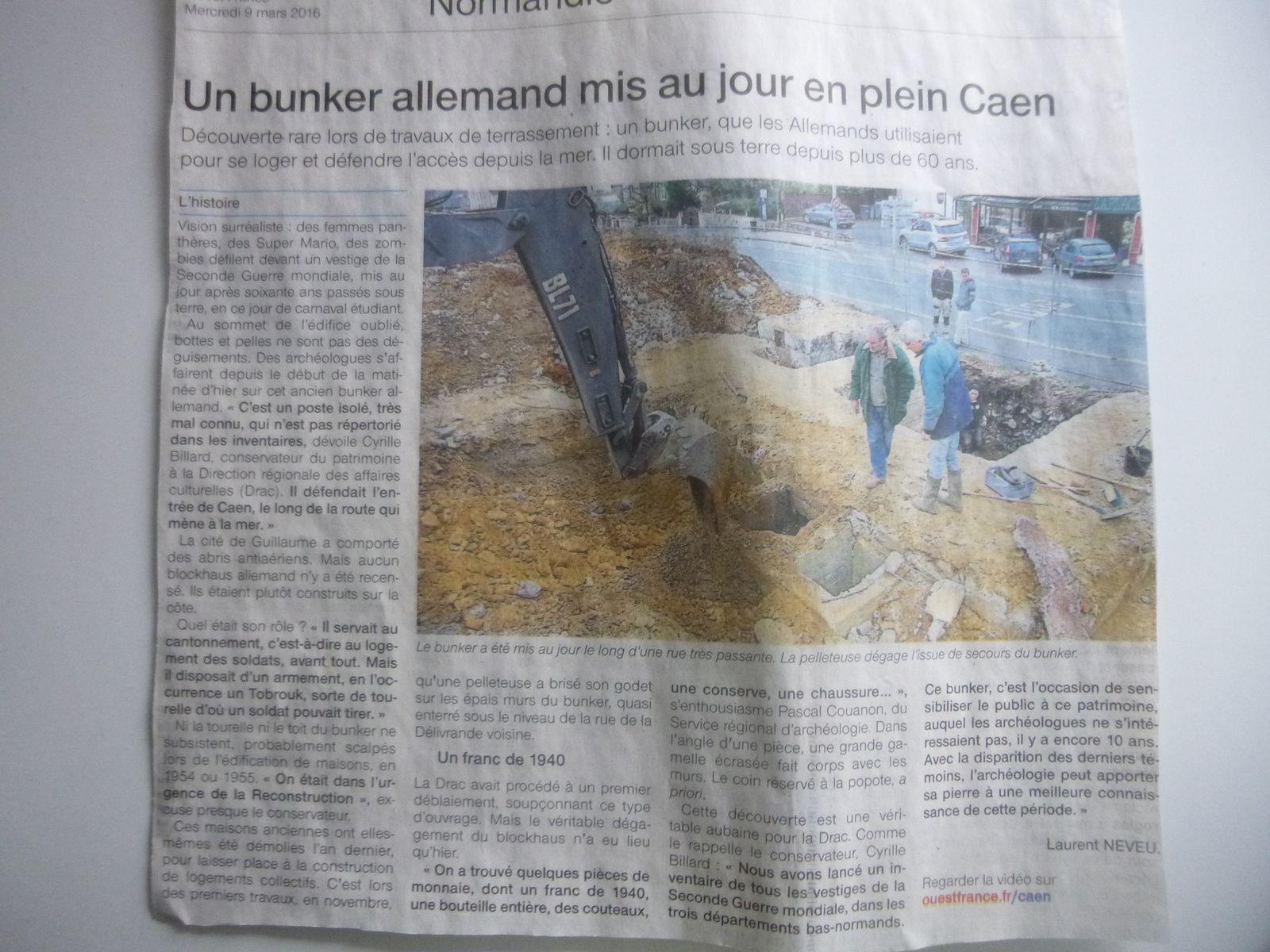 un bunker retrouvé a caen