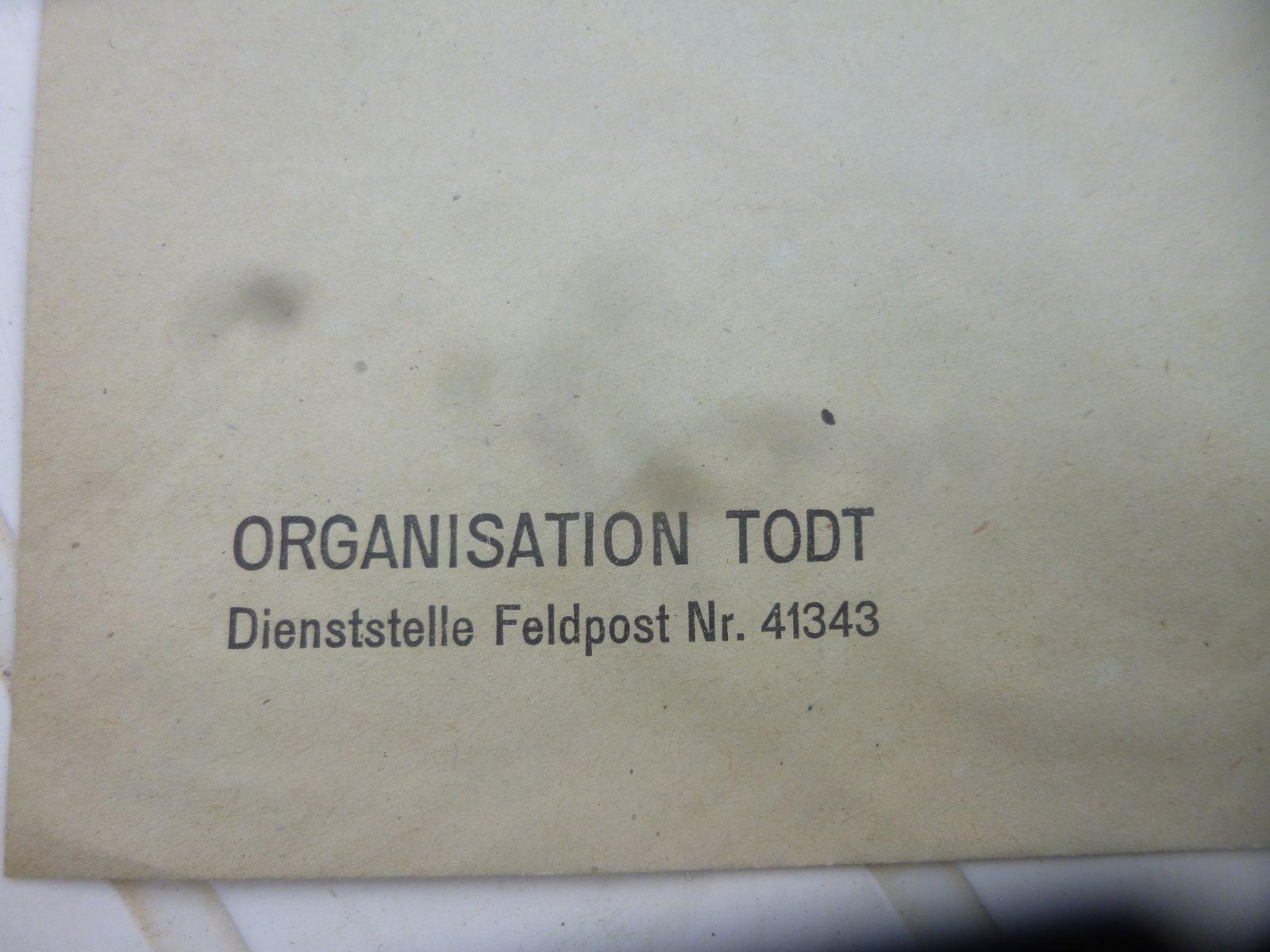 enveloppe de l organisation todt