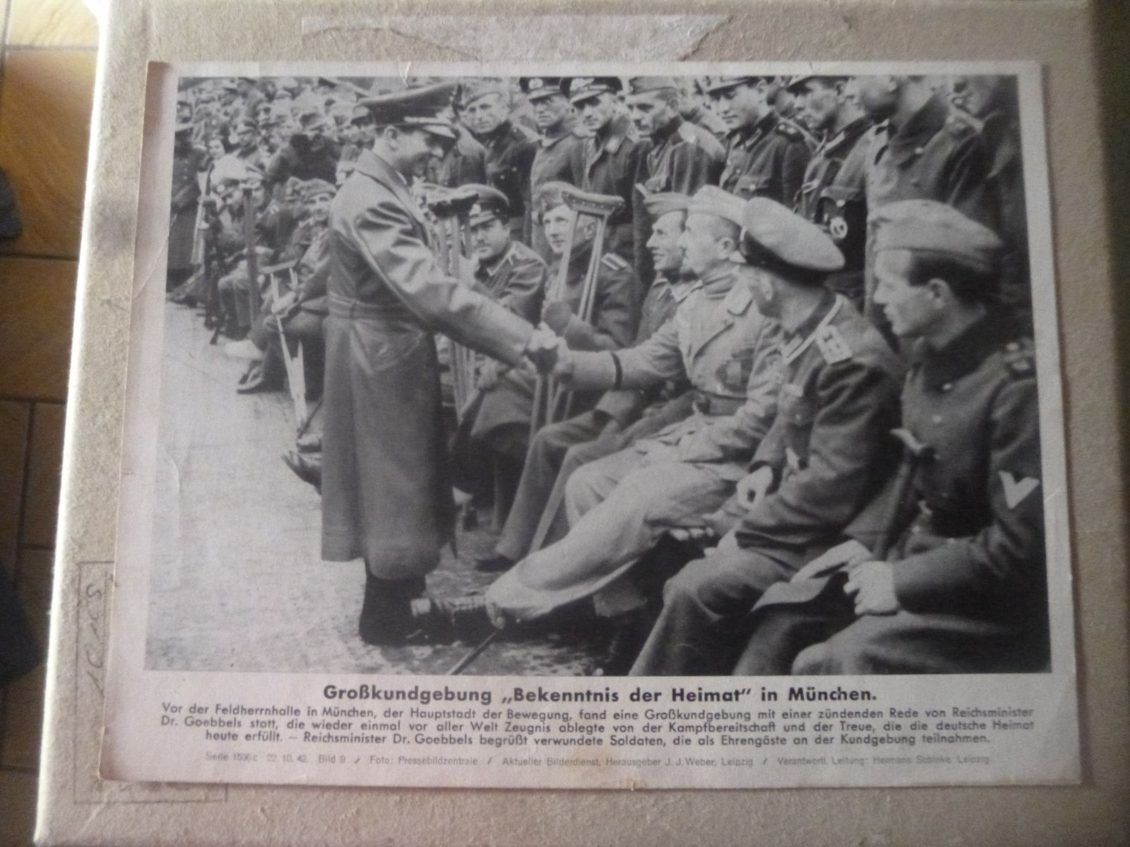photo de propagande du ministre goebbels