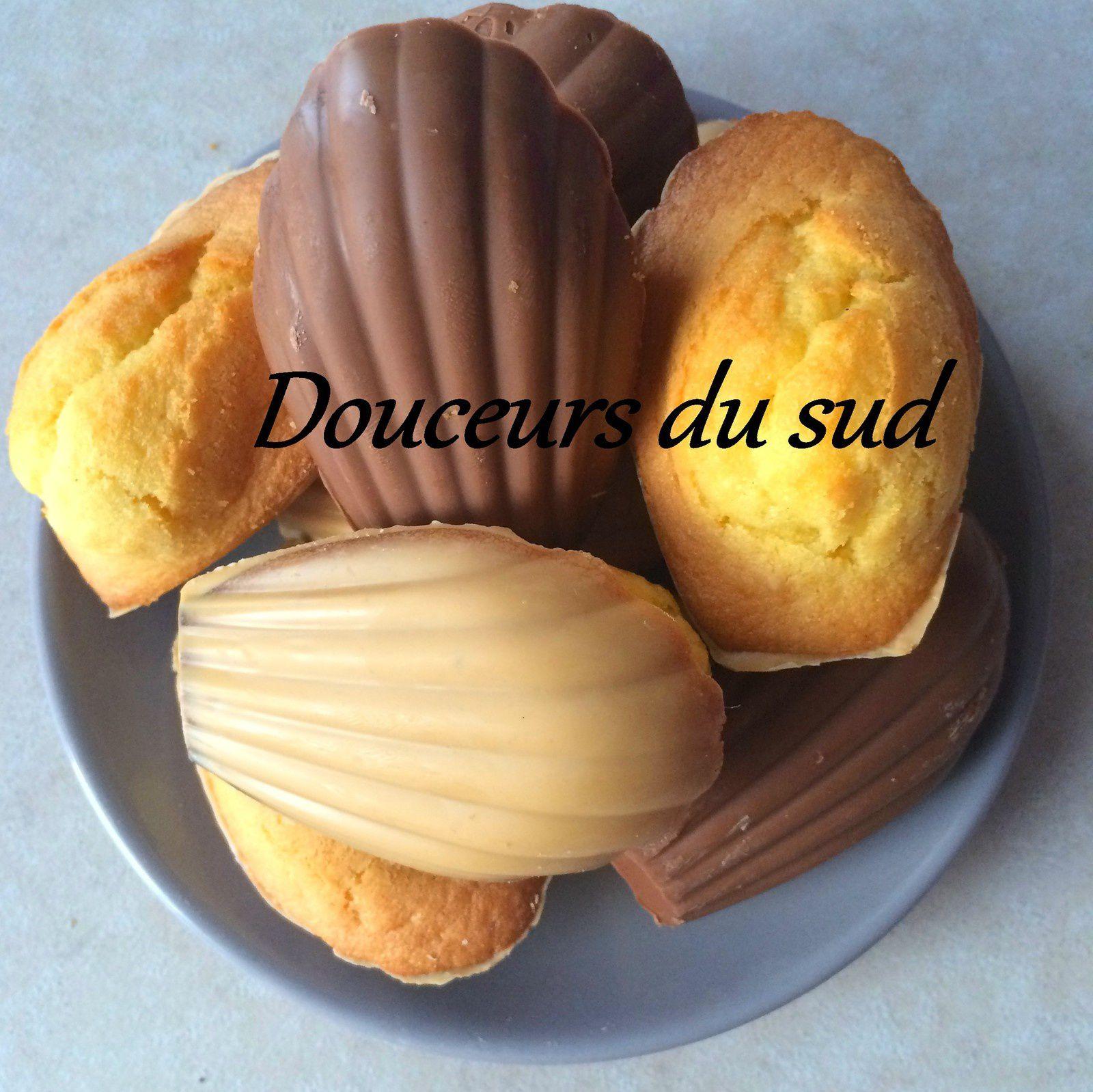 Madeleines à l'anciennes coques chocolats