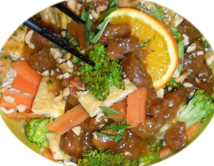 plat asiatique porc au caramel gingembre et citronnelle