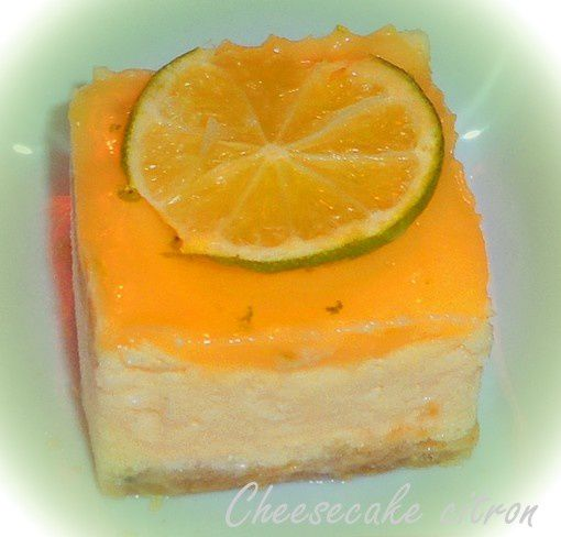 cheesecake citron portion individuelle