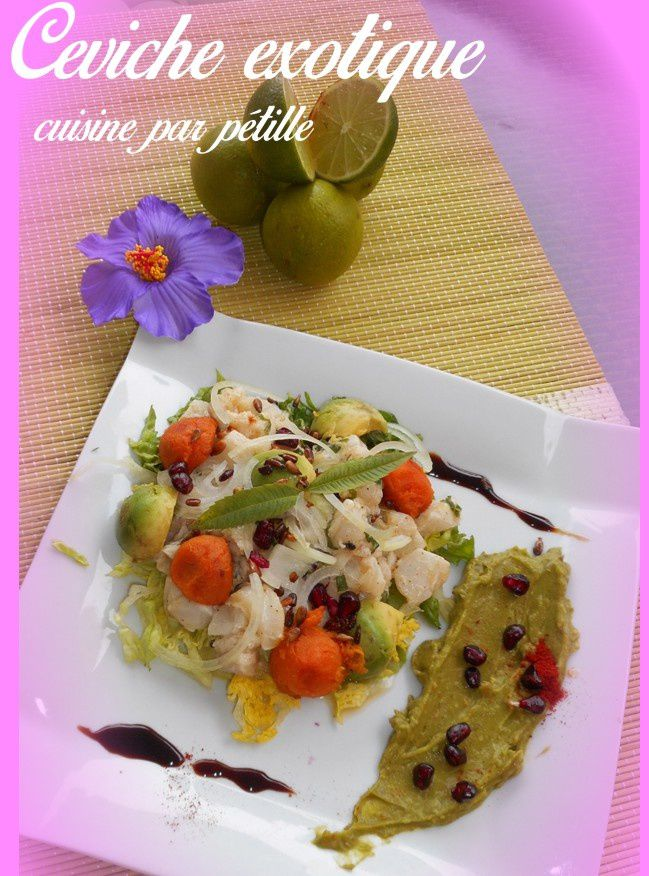 ceviche de cabillaud fruit exotique le blog de cuisine qui petille. Black Bedroom Furniture Sets. Home Design Ideas