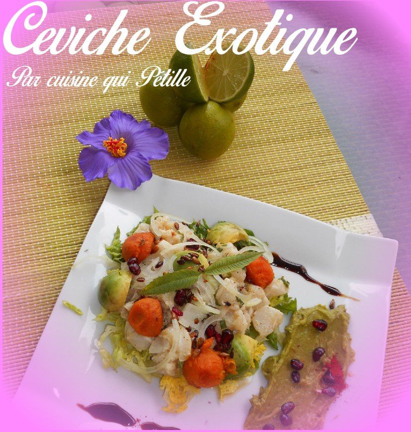 ceviche de cabillaud fruit de la passion