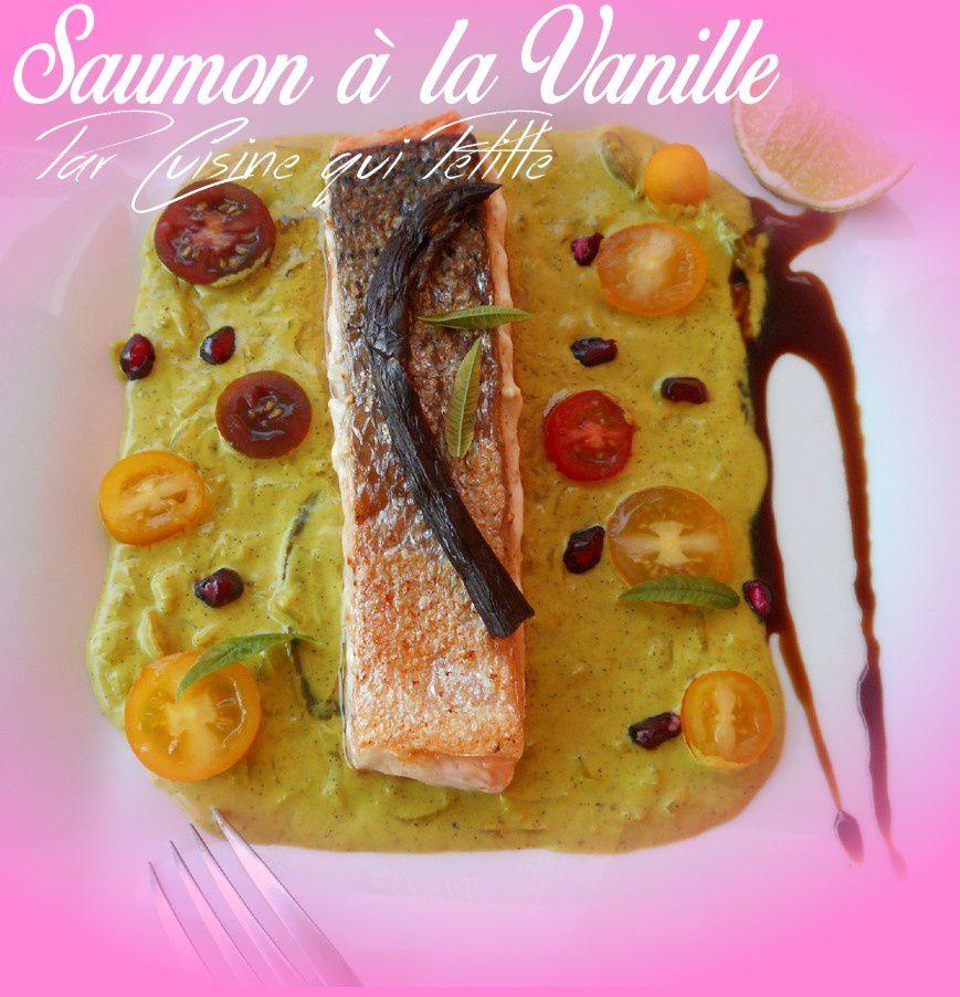 poisson à la tahitienne saumon à la vanille