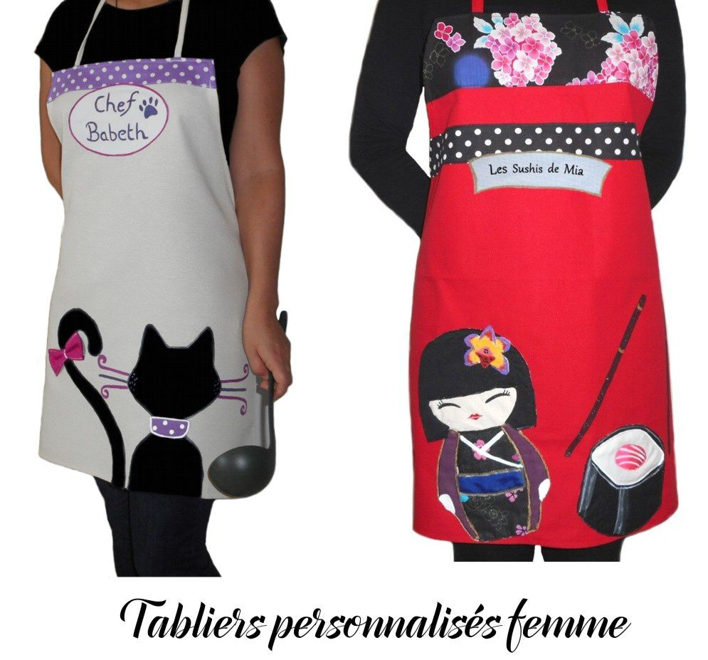 Tablier personnalis beautiful download image x with - Tablier de cuisine femme pas cher ...