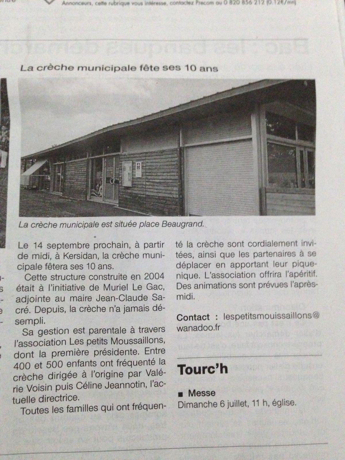 Article Ouest France du 5 Juillet 2014