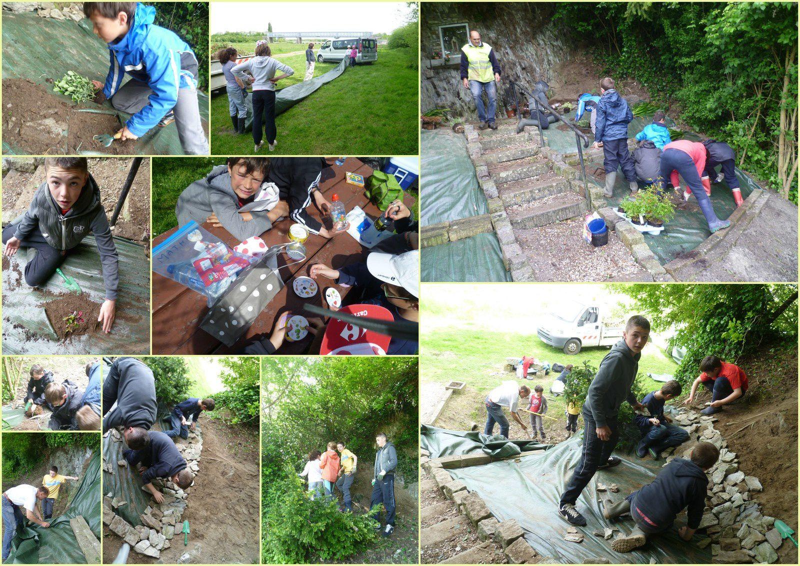Explor'ados mai 2014, Chantier nettoyage du site historique de Pontaubault