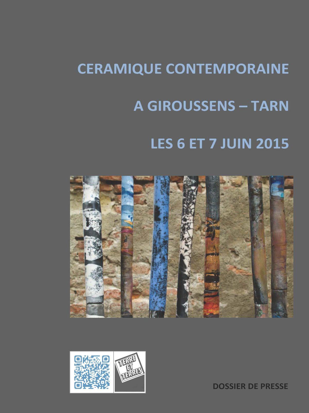 Rendez vous au marché de céramiques de Giroussens à côté de Toulouse ,samedi 6 et dimanche 7 juin