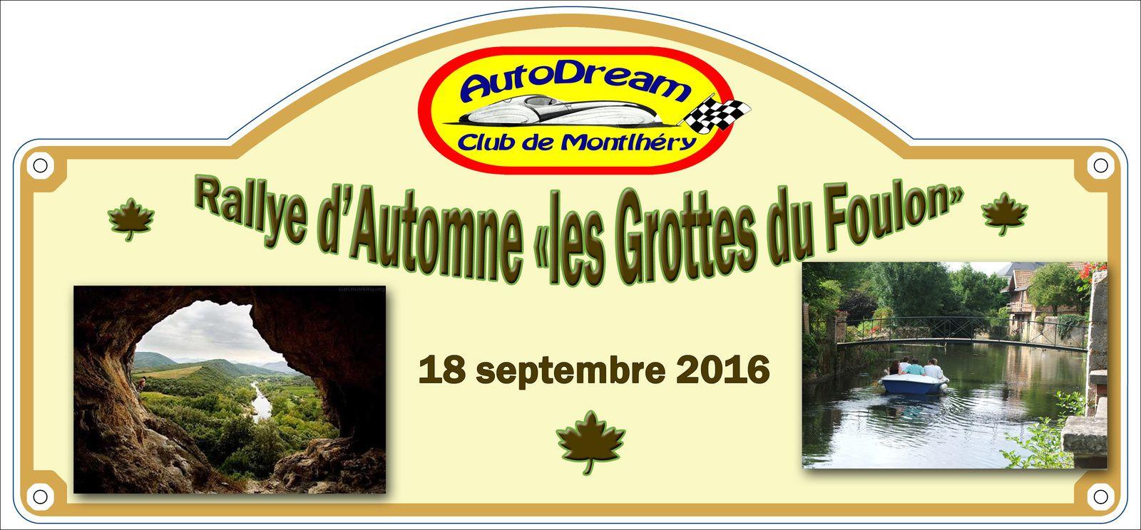 Septembre 2016    Rallye d'Automne