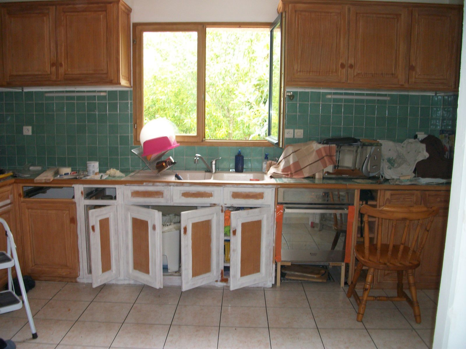 Relooking d 39 une cuisine avant apr s makeover of a kitchen for Relooking cuisine avant apres