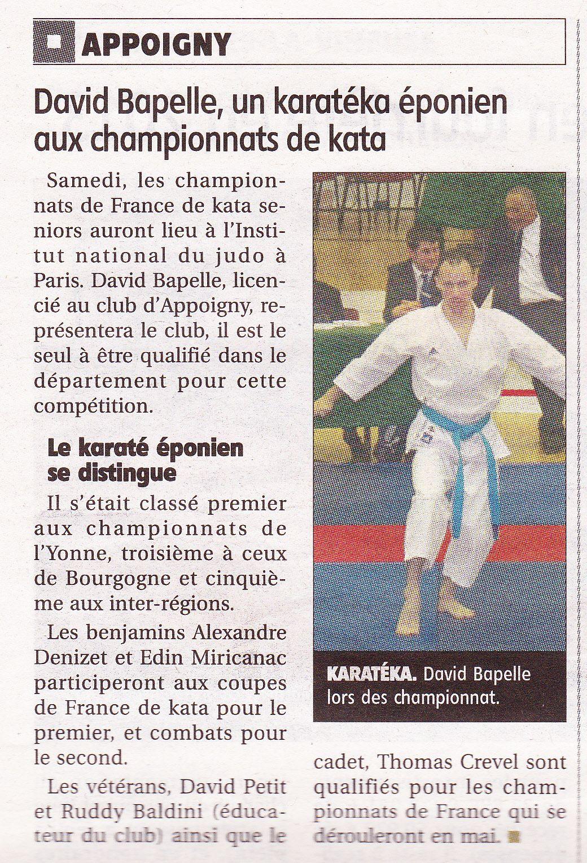 Article de l'Yonne Républicaine du 19/03/2014