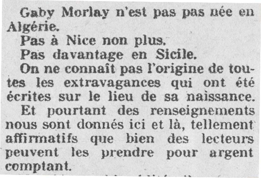 Gaby Morlay : la première (fausse!) biographie