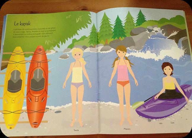 il y a bien sûr plusieurs sports représenté, ici le kayak