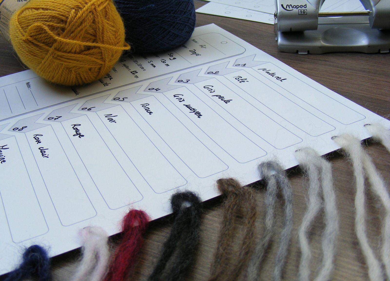 Trouer la fiche en suivant les repères, la complèter et insérer les échantillons