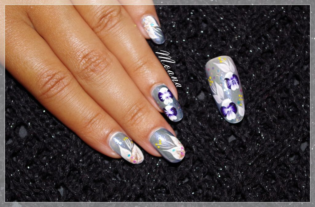 Nail Art One Stroke Orchidée