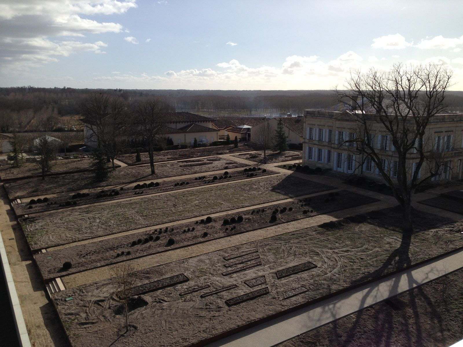 The garden under construction in February 2015