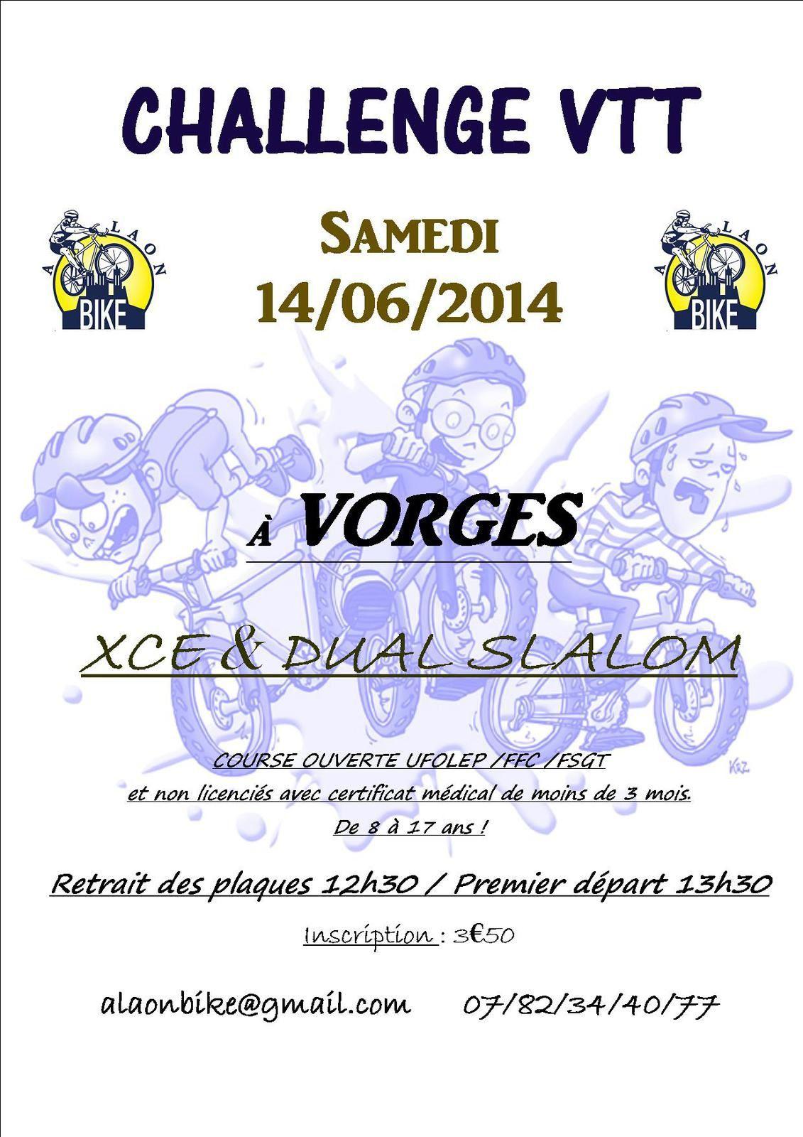 CHALLENGE VTT 14/06/2014