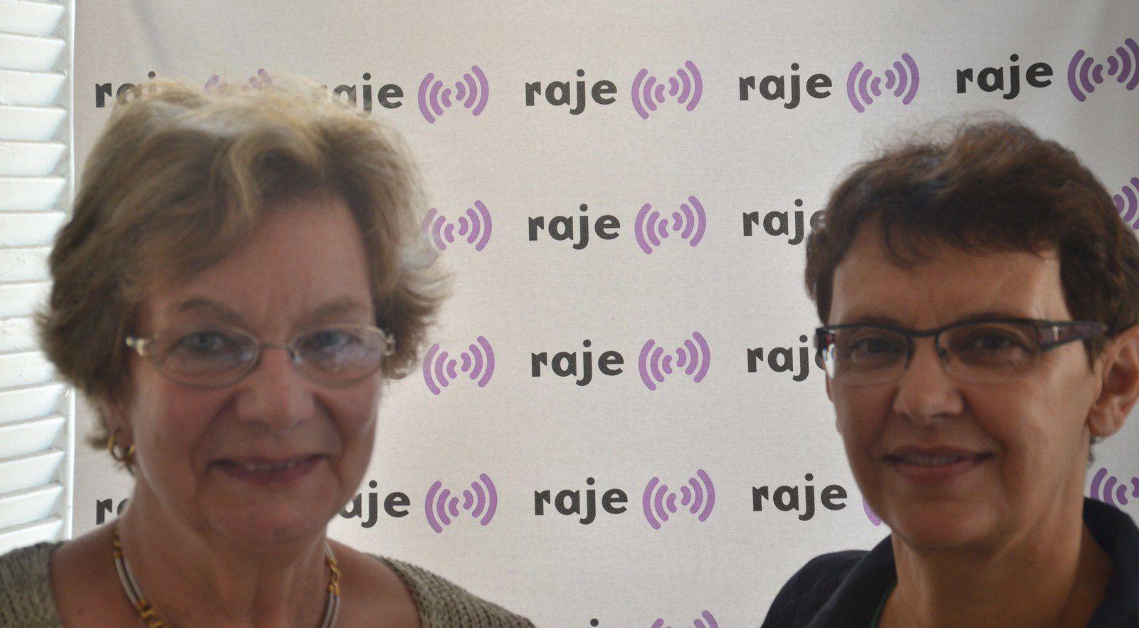 Danielle Deveney et Catherine Faner, respectivement secrétaire et présidente de l'association 1, 2, 3 Soleil.