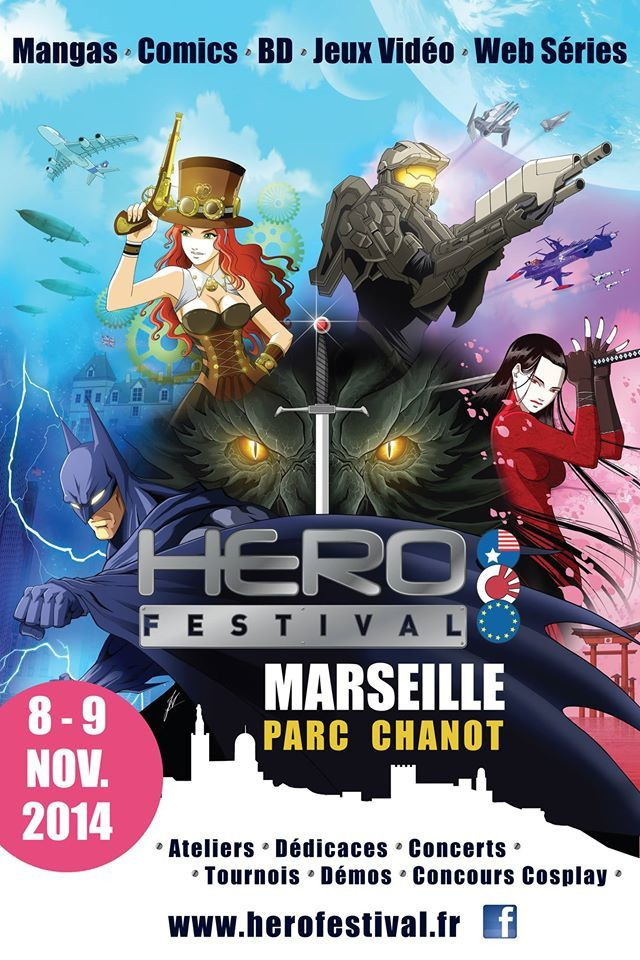Marseille - Salon HERO FESTIVAL : L'Univers Amériques &quot&#x3B;Krypton&quot&#x3B;