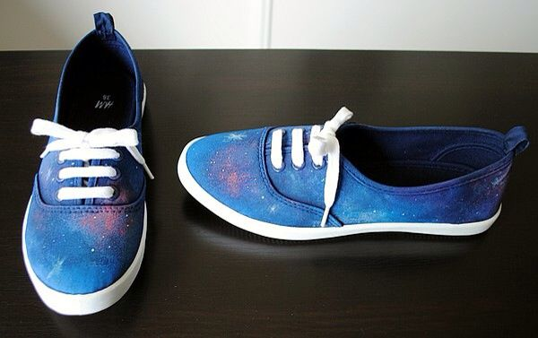 DIY chaussures cosmiques