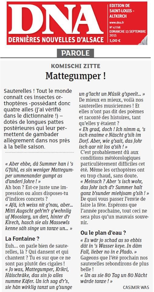 Article DNA du 13 septembre 2015