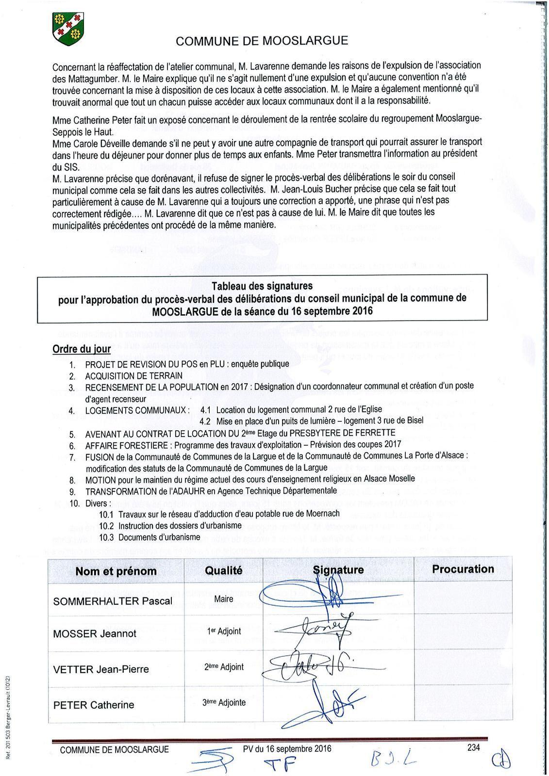 Conseil municipal du 16 septembre 2016