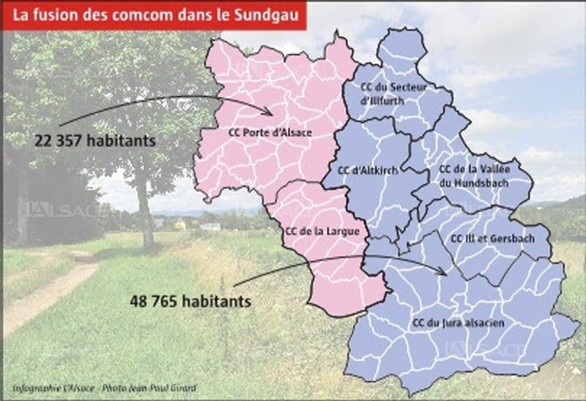 La « comcom XXL » rejetée (article du journal L'Alsace du 14/06/2016)