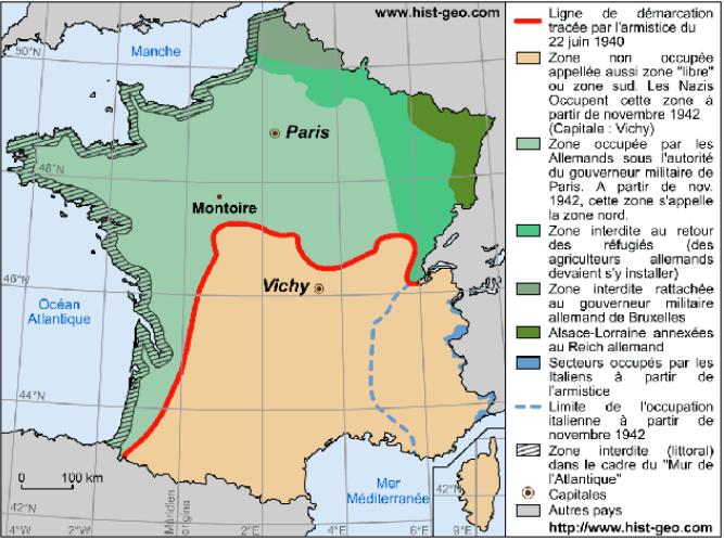 La France après l'armistice du 22 juin 1940