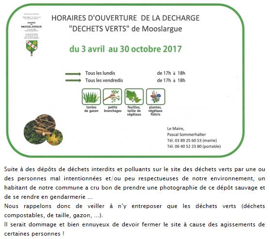Nouveau planning des déchets verts, démarrant le 03 avril 2017