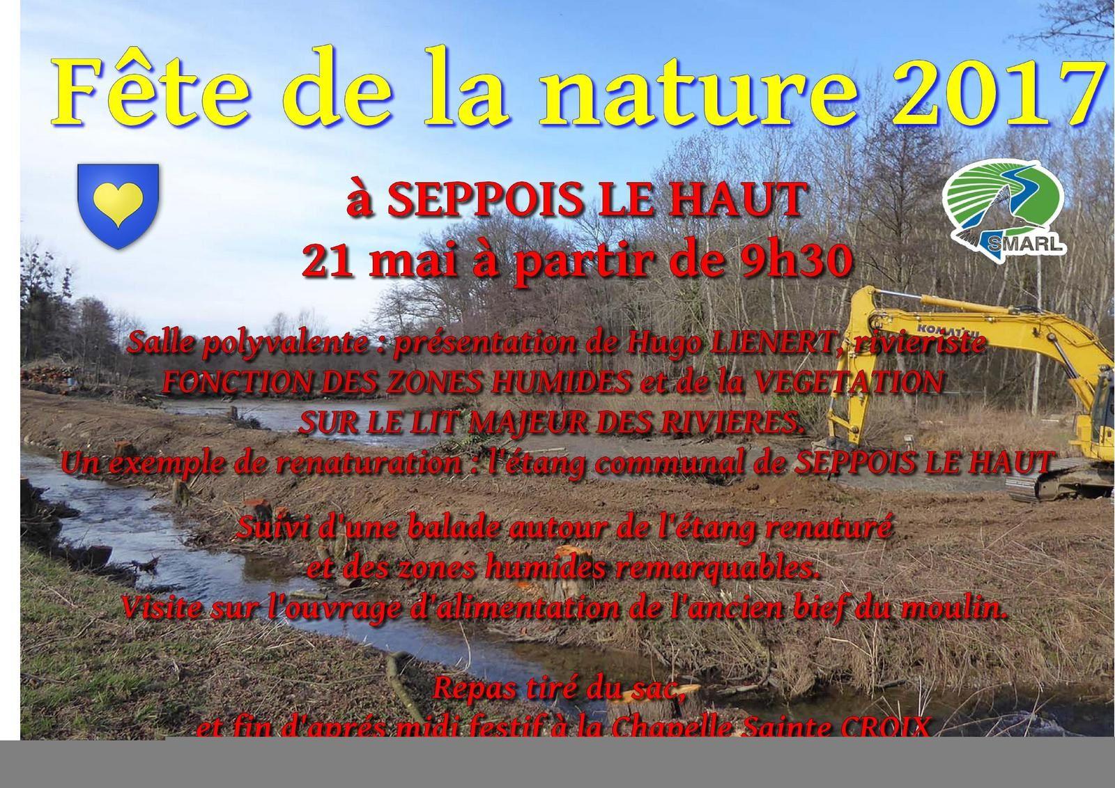 Fête de la Nature 2017 à SEPPOIS LE HAUT, le dimanche 21 mai