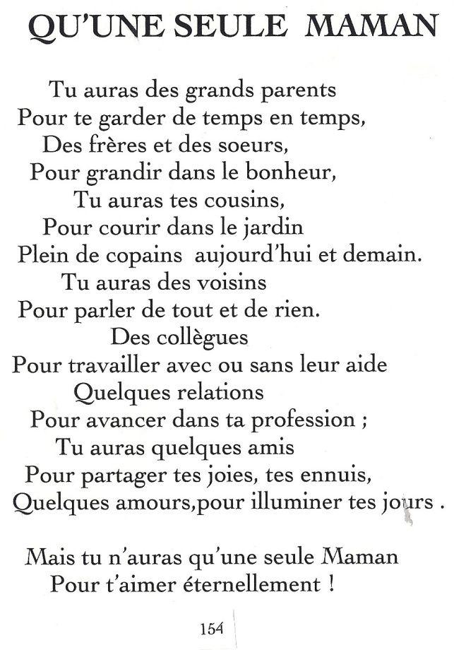 Proverbe Damour Pour Sa Maman Poeme Pour Les Mamans