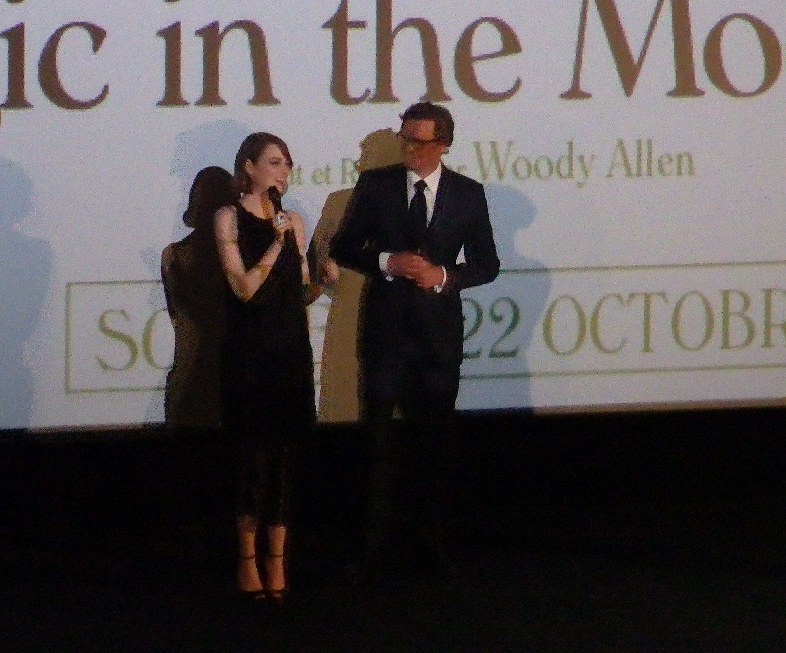 "Photo de la projection presse de ""Magic in the Moonlight"" avec les comédiens principaux, par Nico"