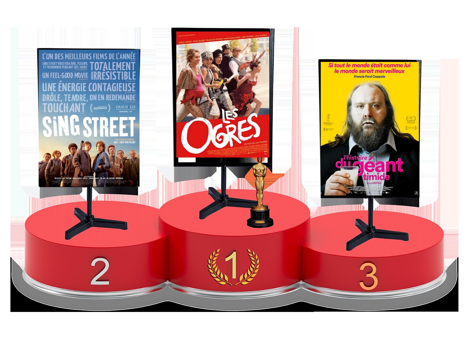 Top Films 2016 : le classement en septembre