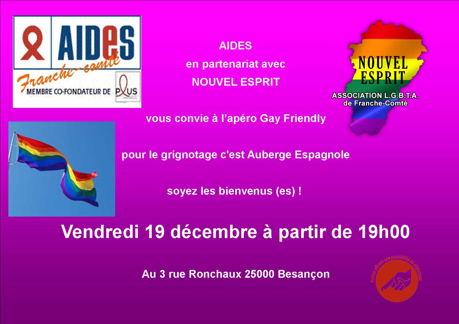Apéro Gay-Friendly 19 Décembre