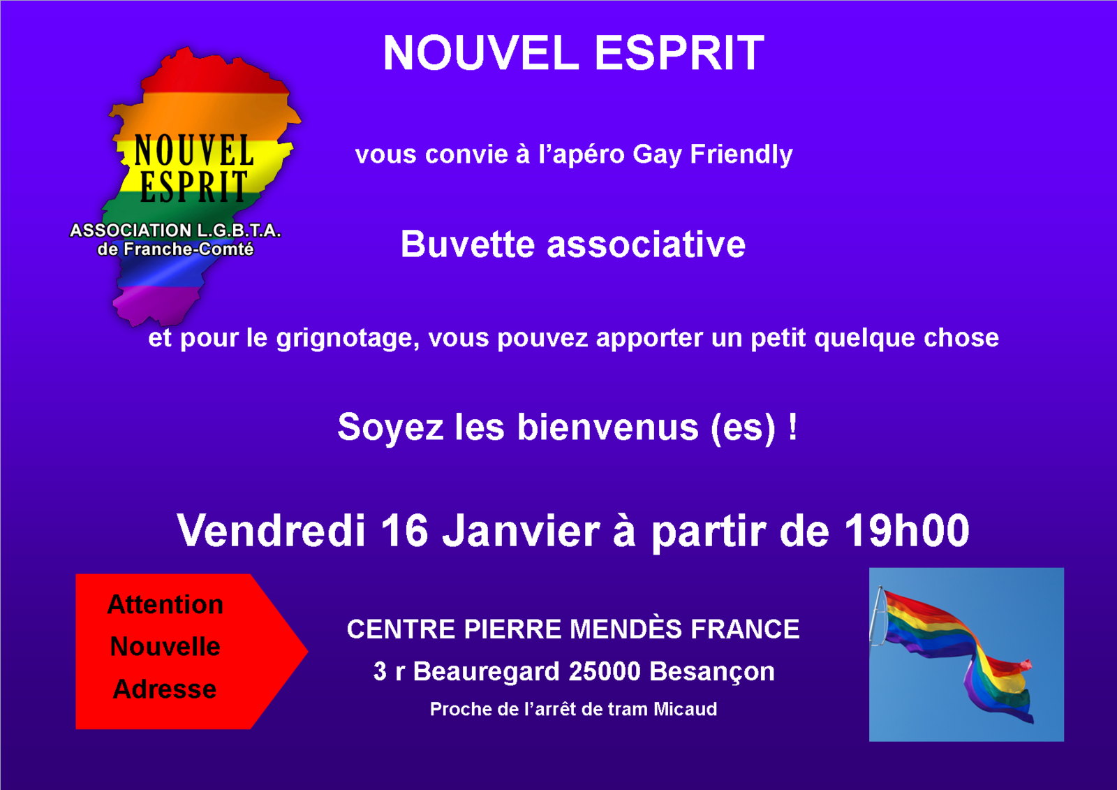 Apéro Gay-Friendly 16 Janvier