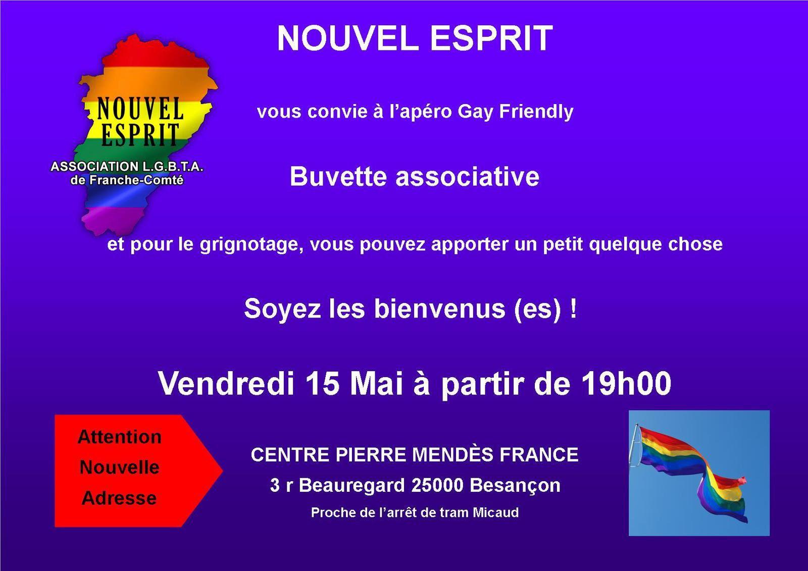 Apéro Gay-Friendly 15 Mai 2015