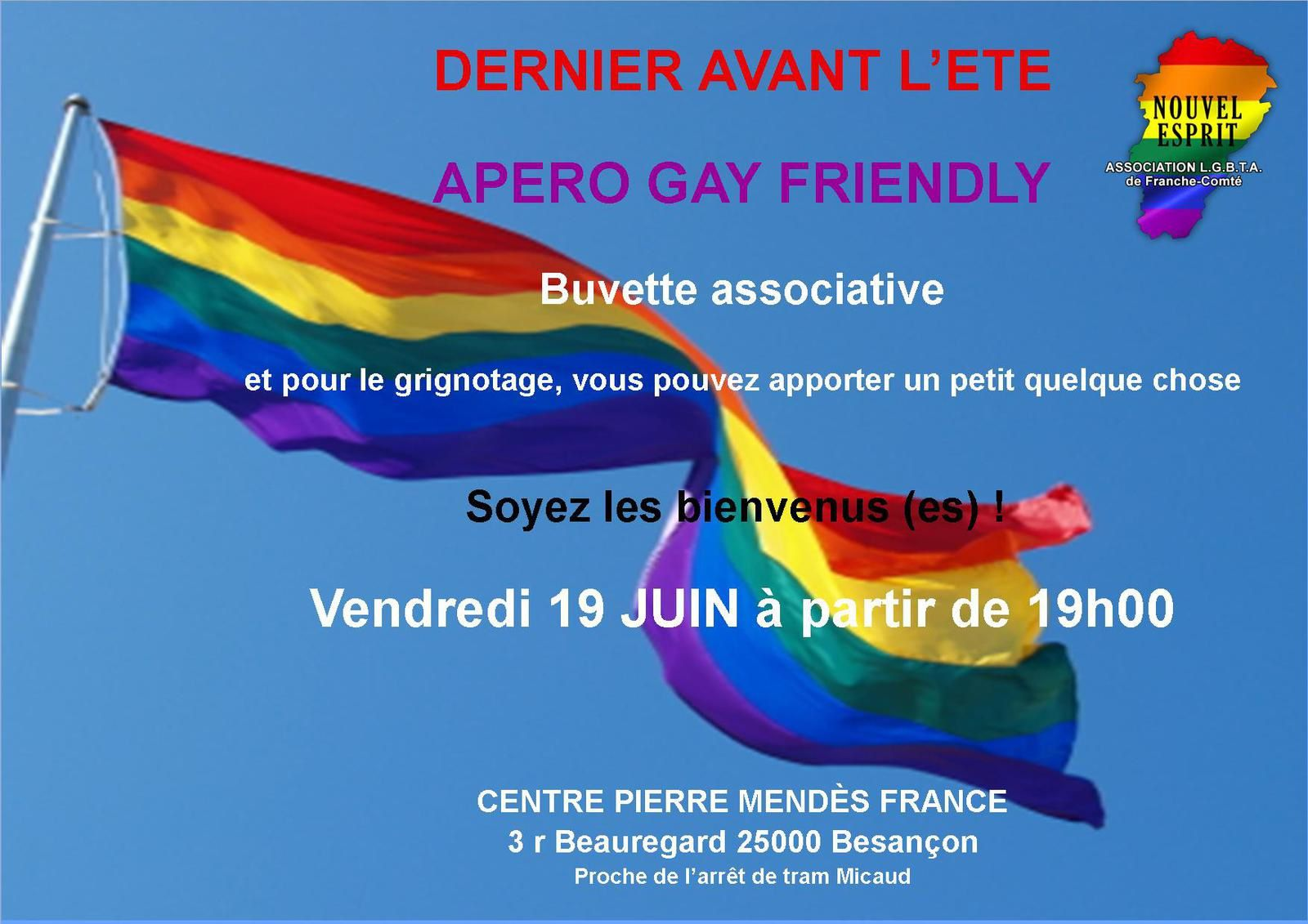 Apéro Gay-Friendly 19 juin 2015