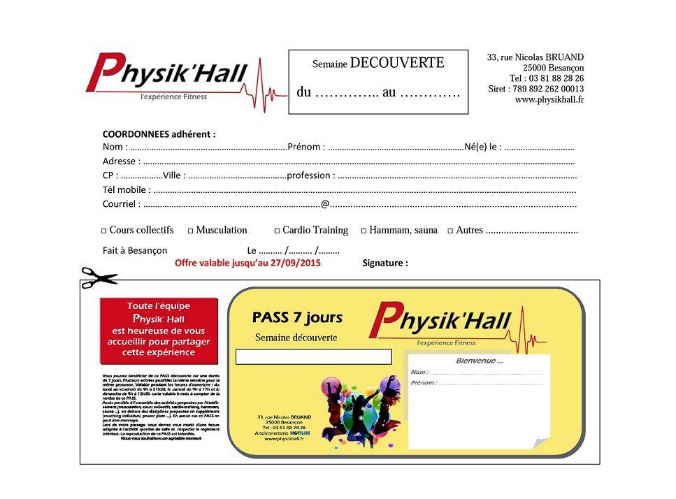 Info Partenaire Le Physik'Hall