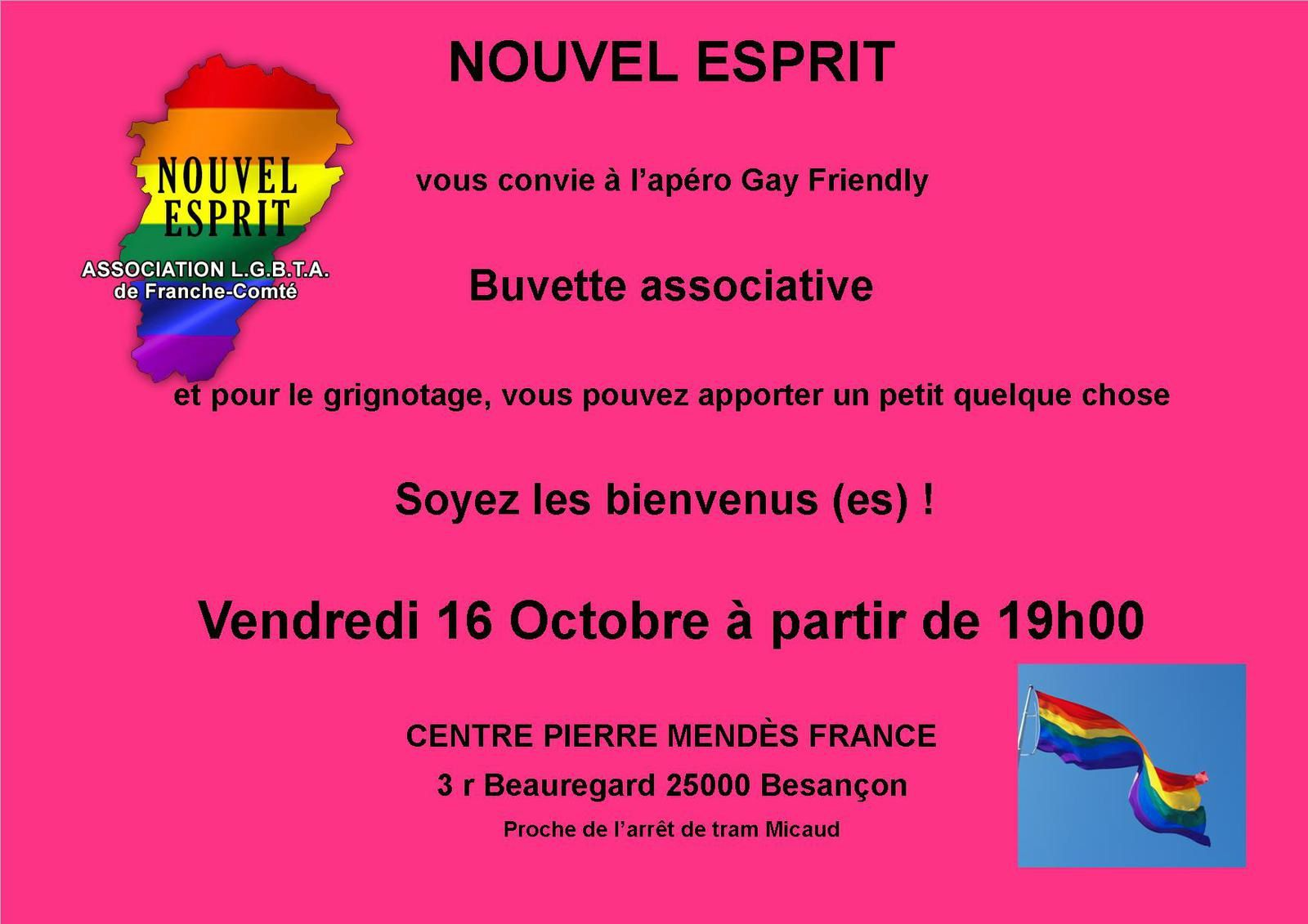 Apéro Gay-Friendly 16 Octobre 2015