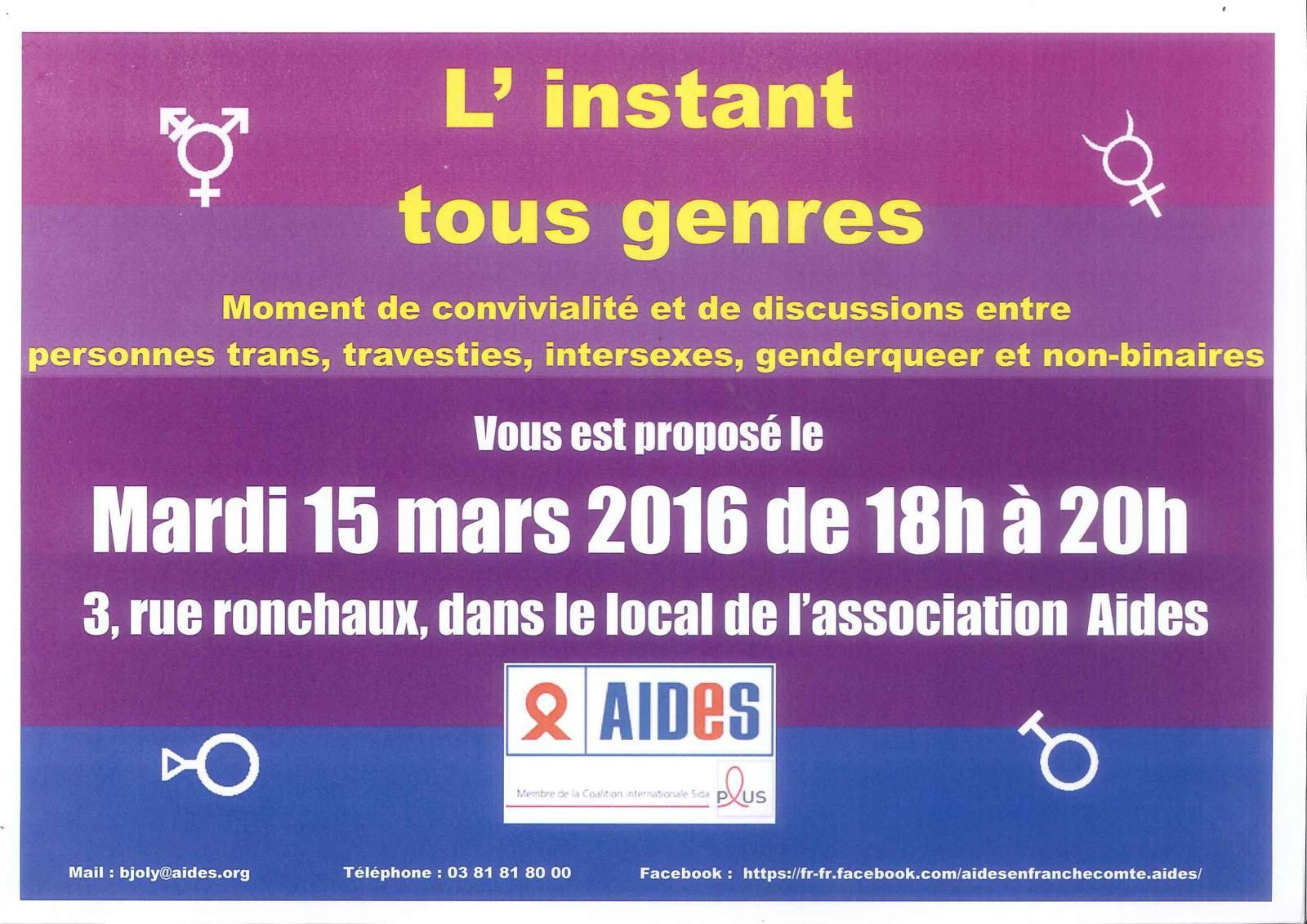 Instant tous genres 15 mars 2016