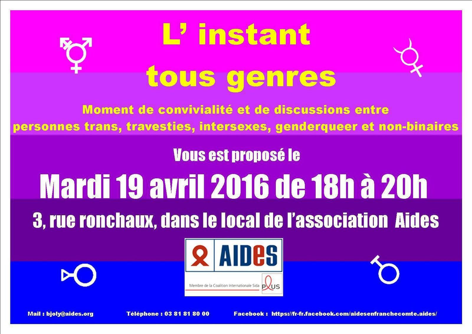 Instant tous genres 19 avril 2016